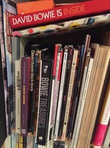 My Bowie bookshelf